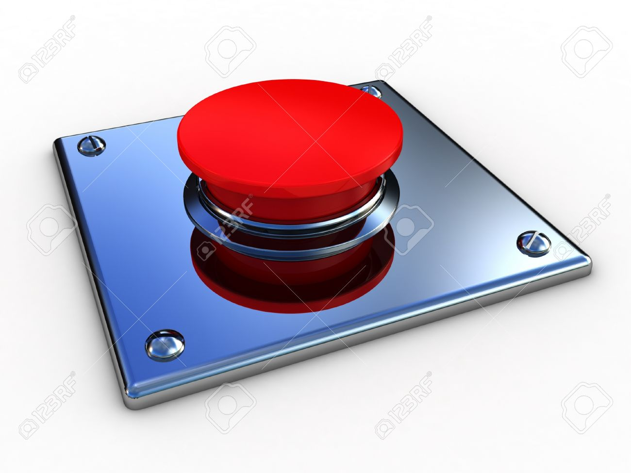 3d button  red  push technology press Stock Photo - 12115588