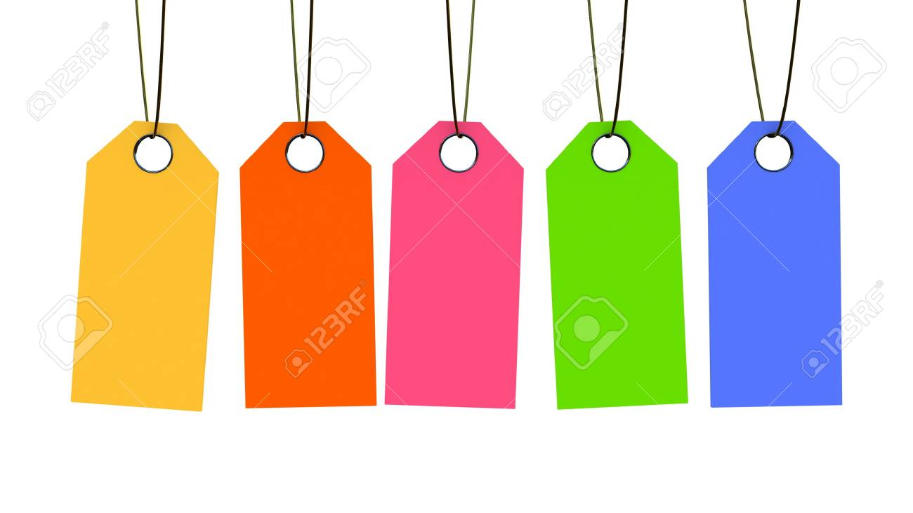 Price Tags on white background, 3D images Stock Photo - 12862518