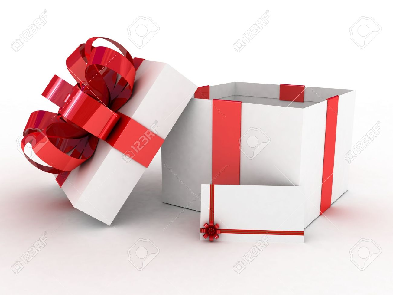 Gift Open White Box, 3D Images Stock Photo, Picture And Royalty ...