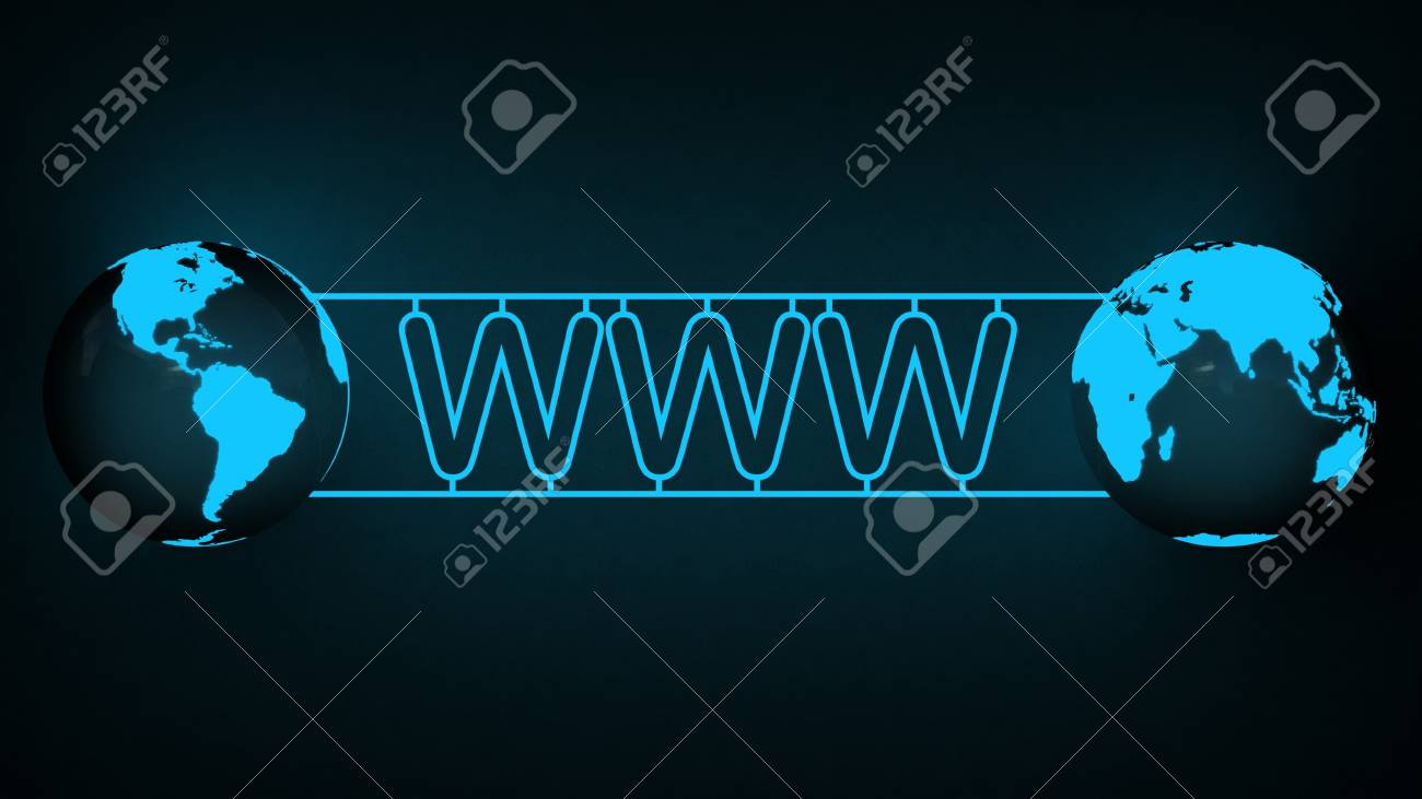 WWW text and globe Stock Photo - 16845478