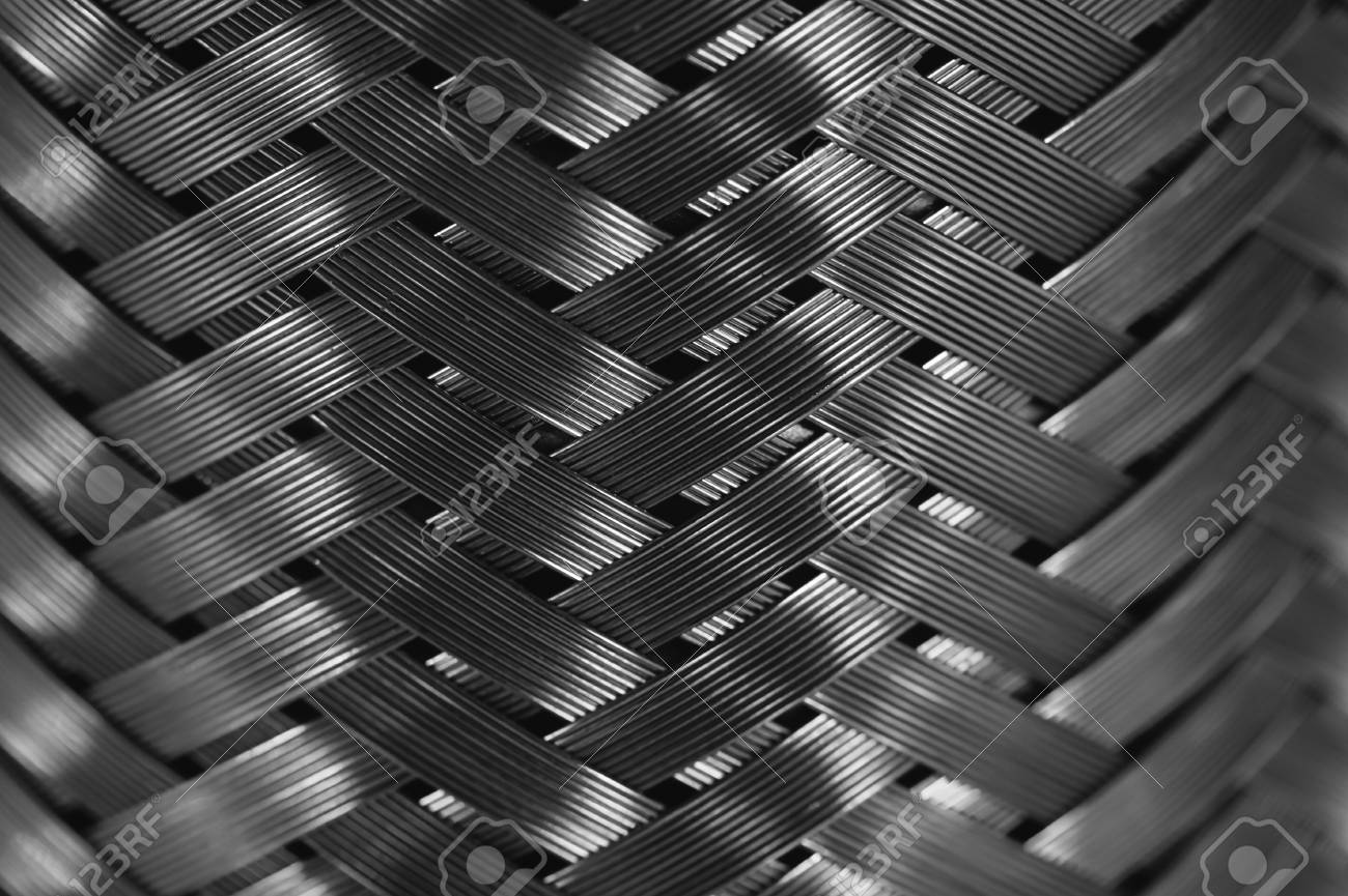 Vertical Metal Wire Braiding. Steel Texture. Background. Template ...