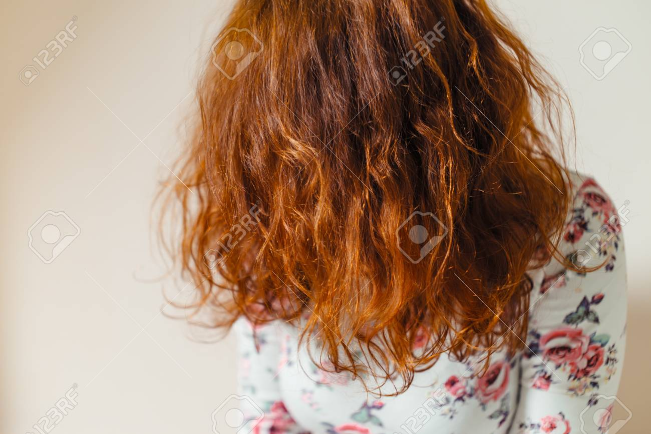 Beautiful Healthy Long Curly Red Hair Dyed With Henna