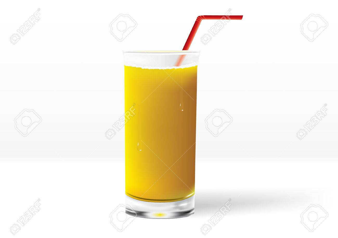 Orange Juice Glass Clipart Glass of Orange Juice