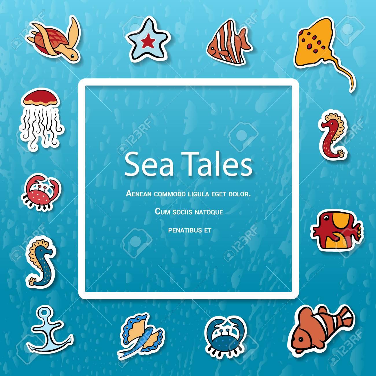Sea Animals SVG. Underwater clip art. Marine corps vector illustration.   Sea  animals, Animal clipart, Deep sea animals