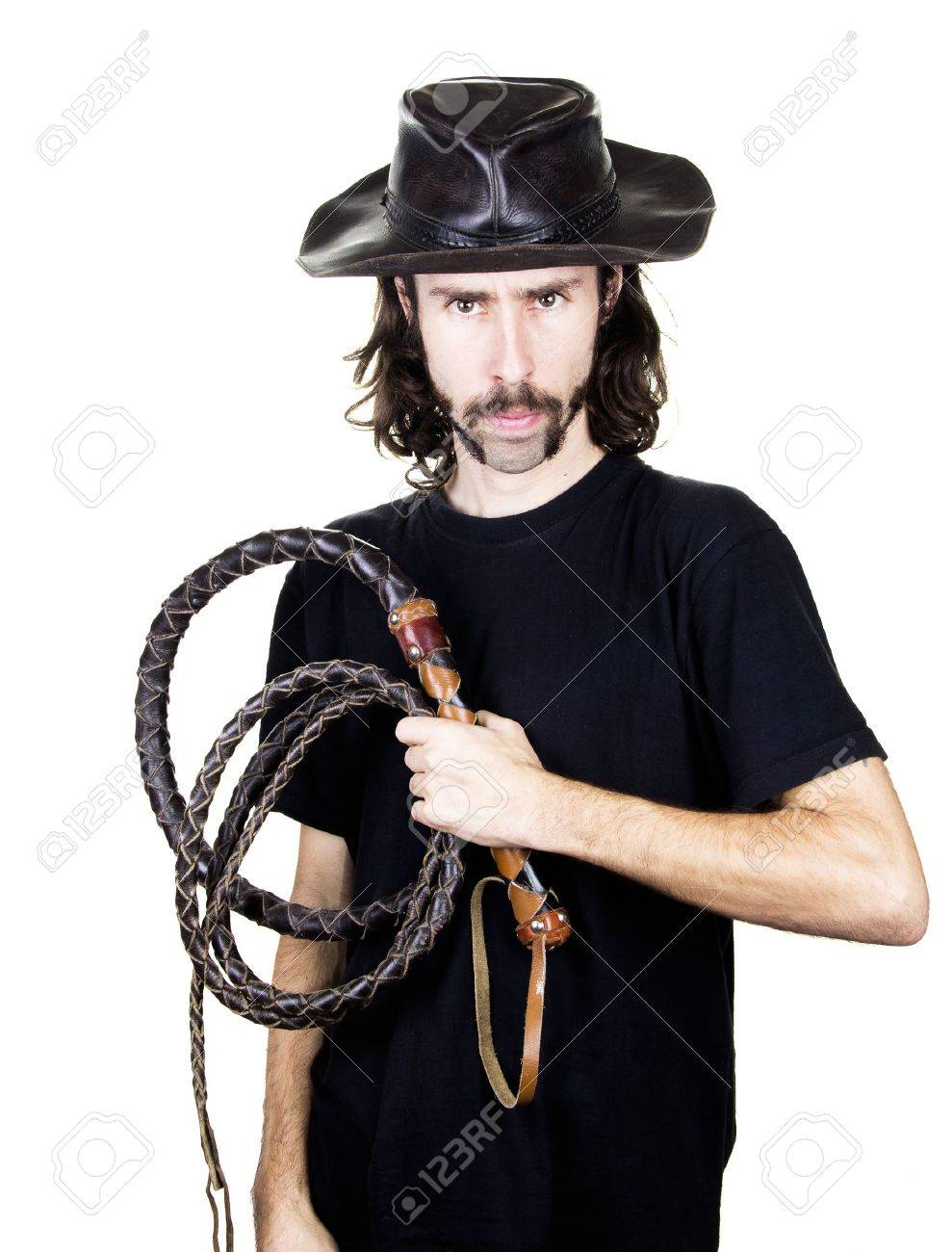 a men with whip and hat Stock Photo - 17242073