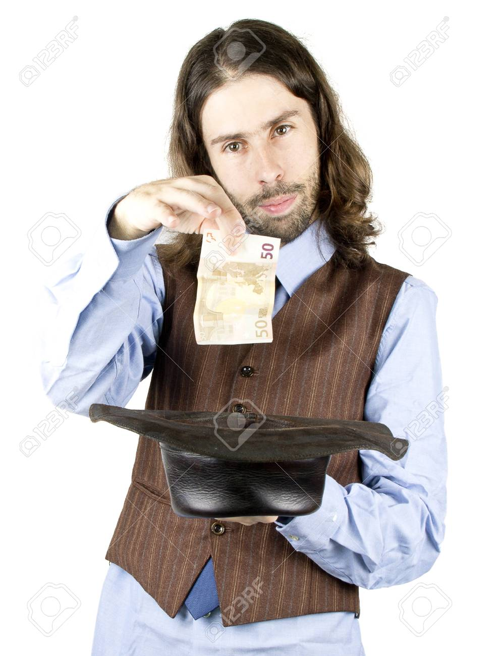a men with the cowboy hat Stock Photo - 17848928