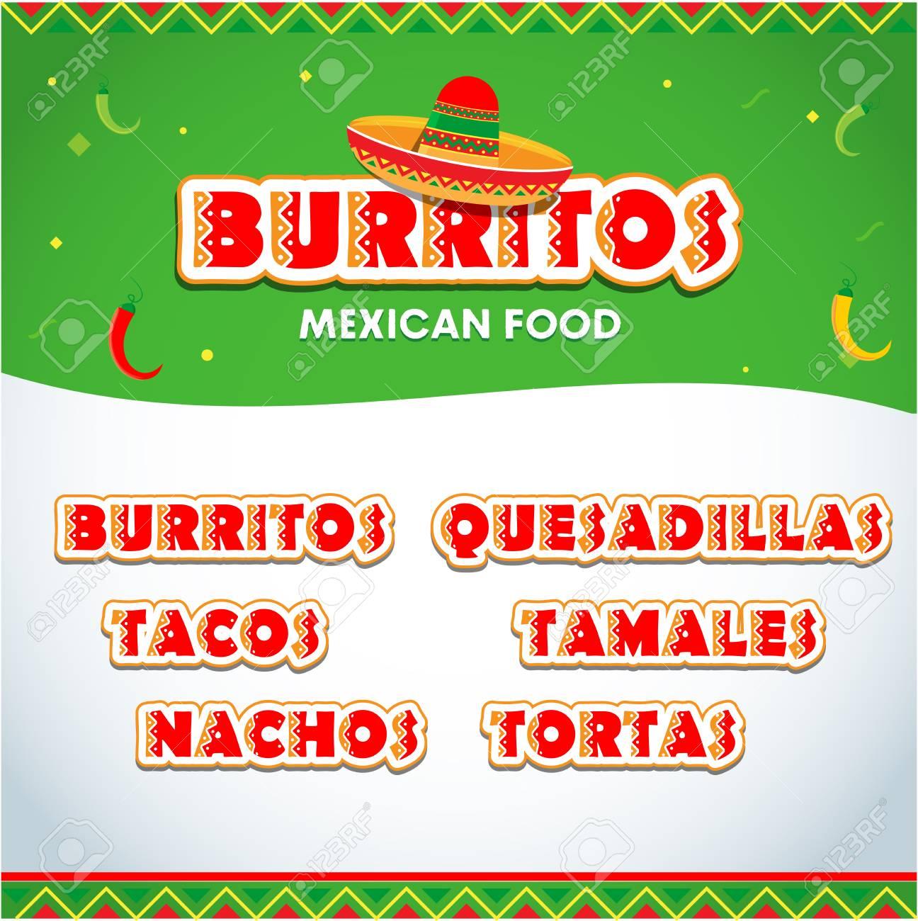 menu elements for mexican restaurant mexican food flyer brochure