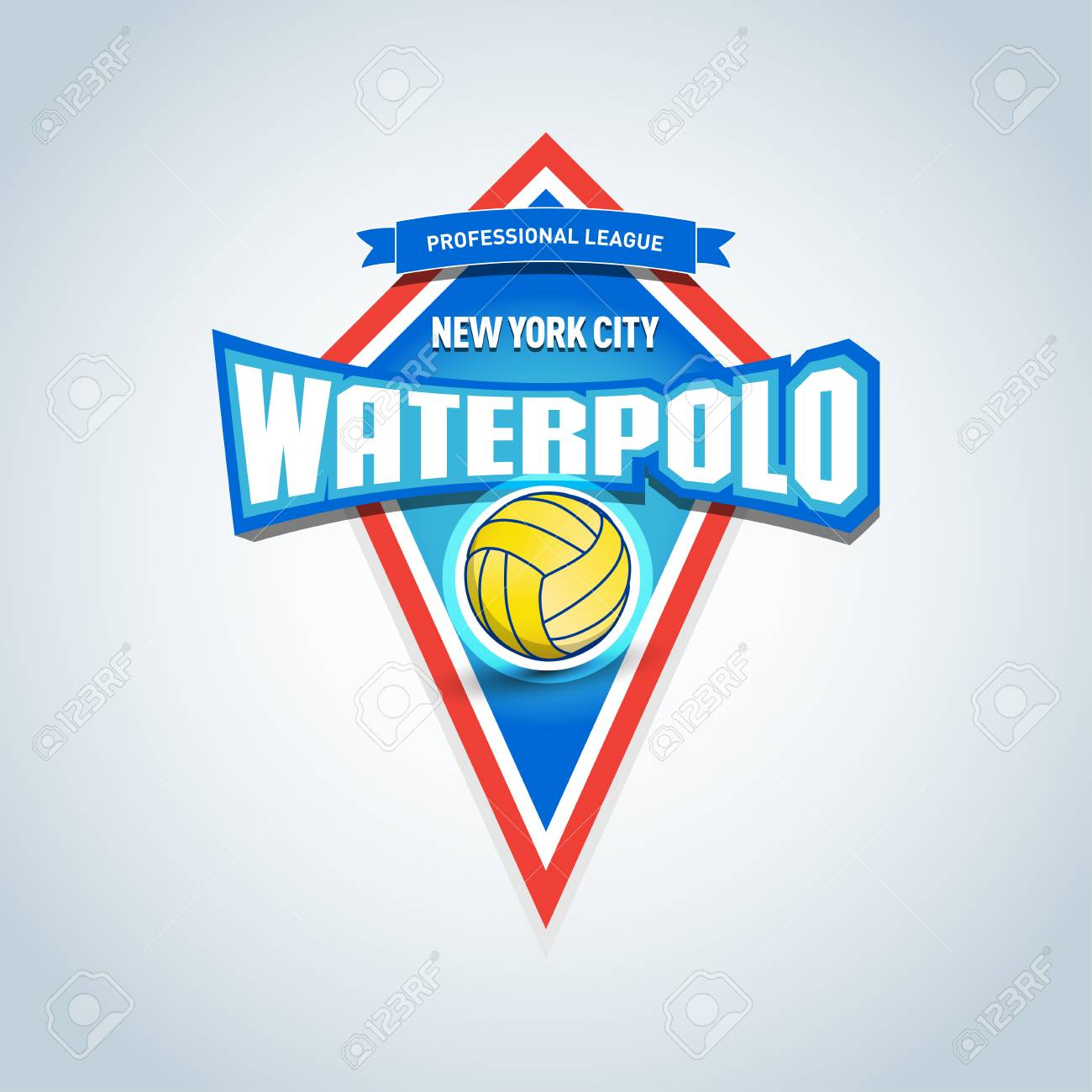 ae7c8b18c Water polo isolated badge logo, sport t-shirt graphics. Club emblem,  college league logo, sport tournament, championship design