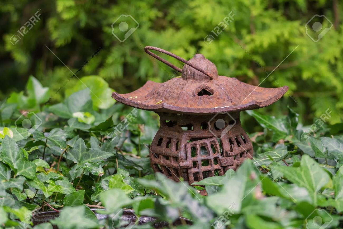 Decoration For A Garden In The Form Of A Flashlight. It Is Iron ...