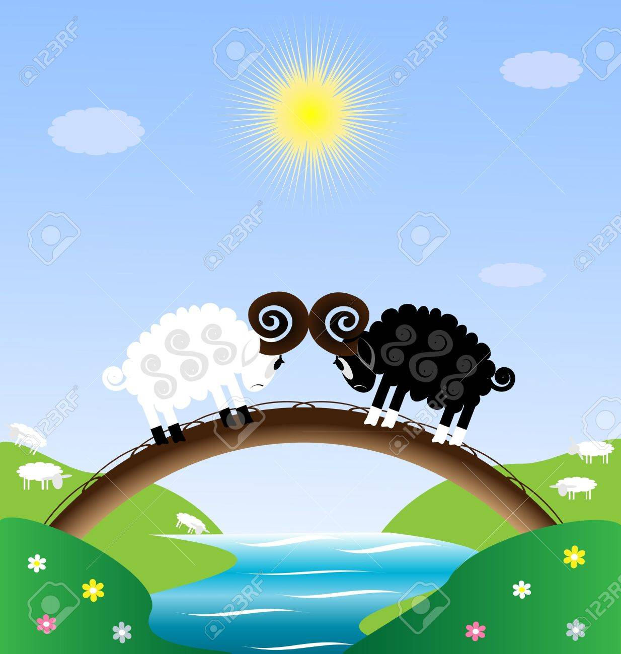 two sheep Stock Vector - 8336935