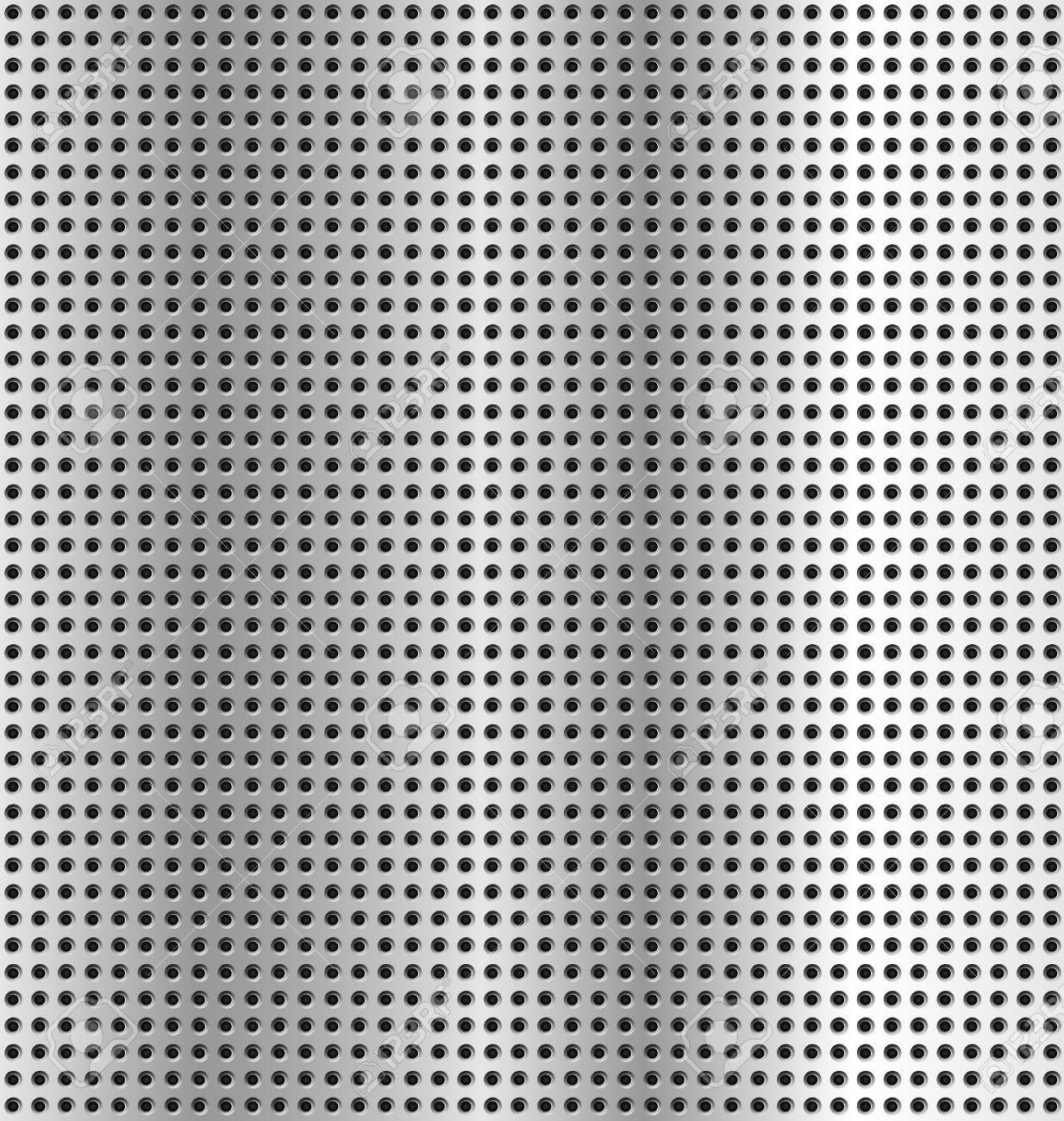 metallic background - texture silver metal holes Stock Vector - 9327520