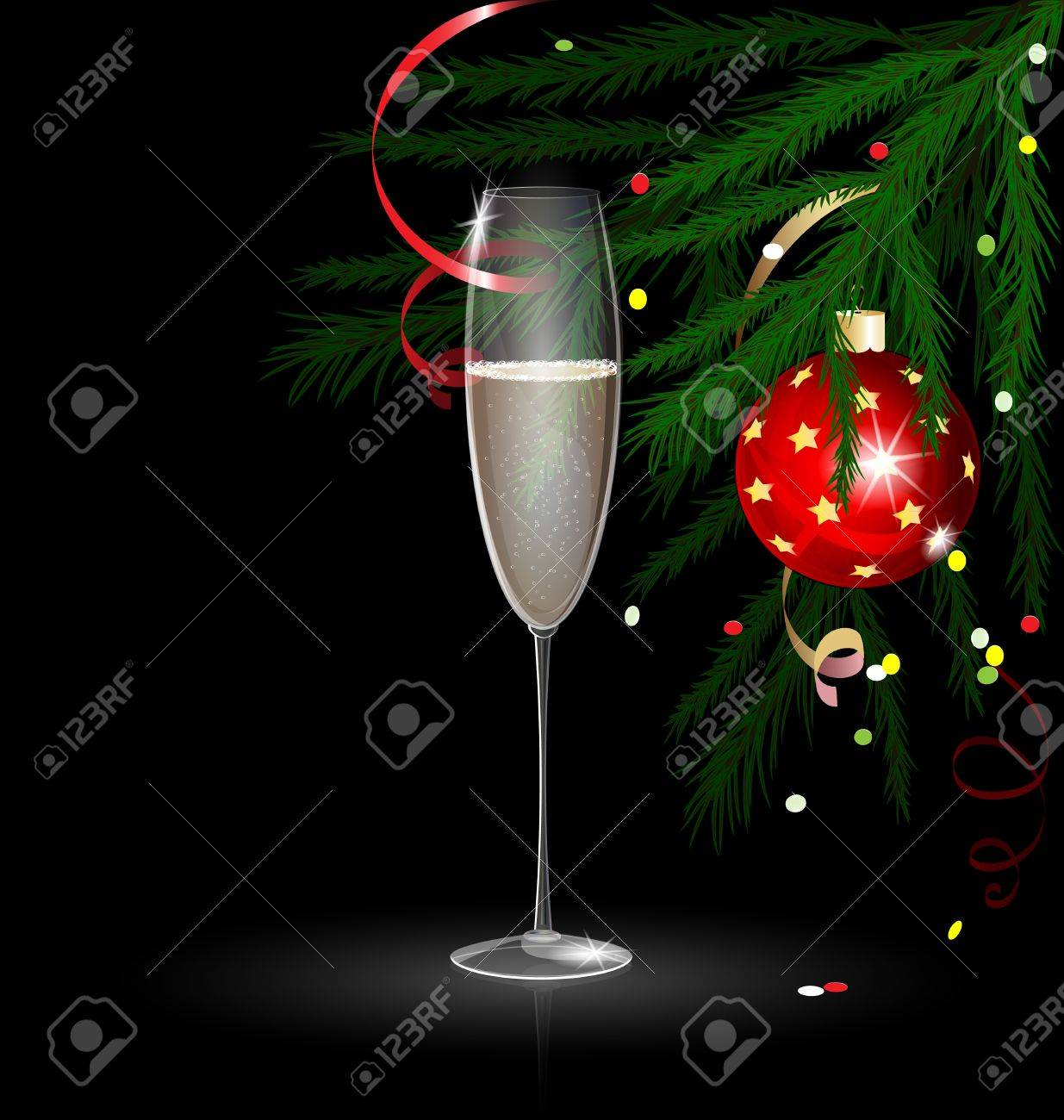 Christmas champagne Stock Vector - 10802399