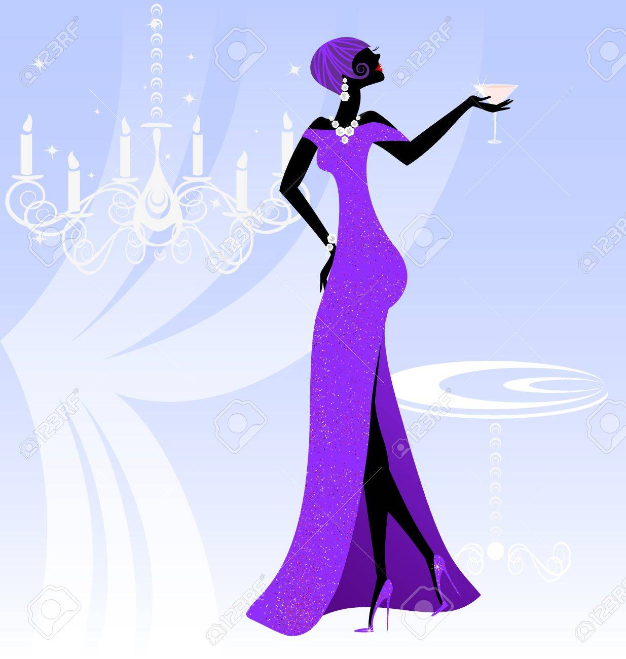 lady in violet Stock Vector - 11258178
