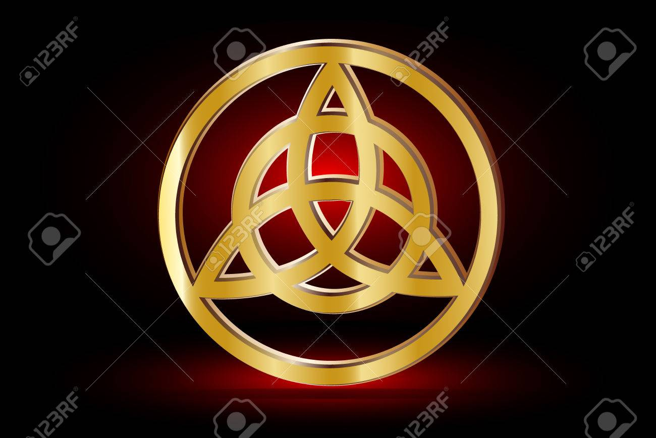 Triquetra symbol vector illustration symbol of strength honor triquetra symbol vector illustration symbol of strength honor and glory stock vector biocorpaavc Images