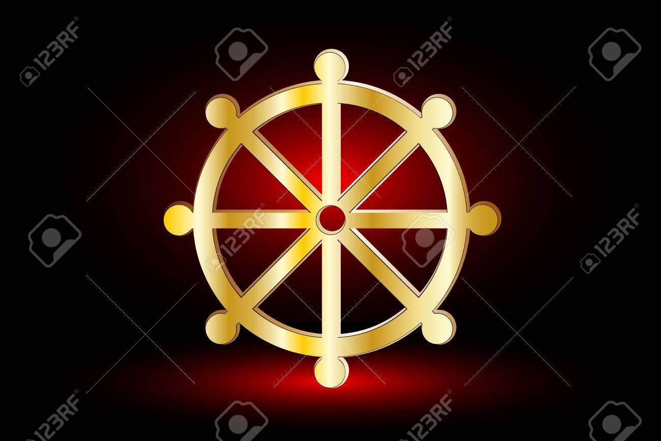 423 Dharma Wheel Stock Illustrations Cliparts And Royalty Free