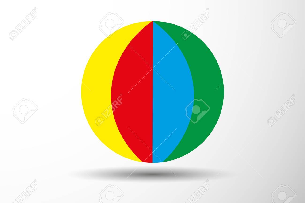 colorful beach ball vector illustration royalty free cliparts rh 123rf com mac beach ball vector mac beach ball vector