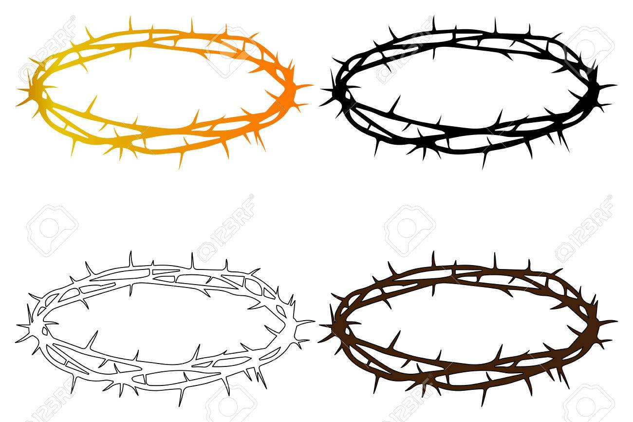 crown of thorns jesus christ s crown royalty free cliparts rh 123rf com crown of thorns vector free crown of thorns vector image