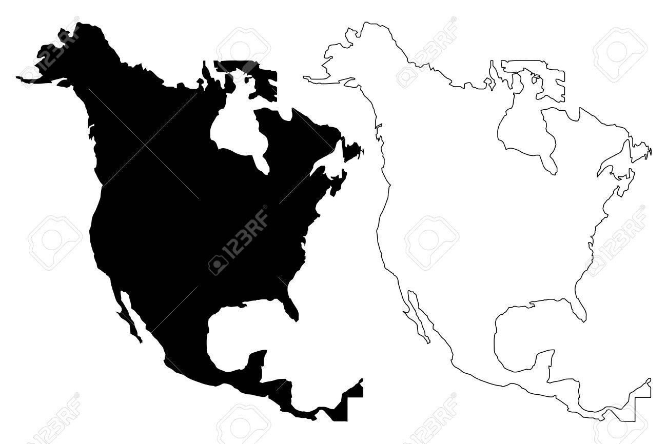 north america map vector illustration scribble sketch north rh 123rf com north america vector map with states north american free vector map