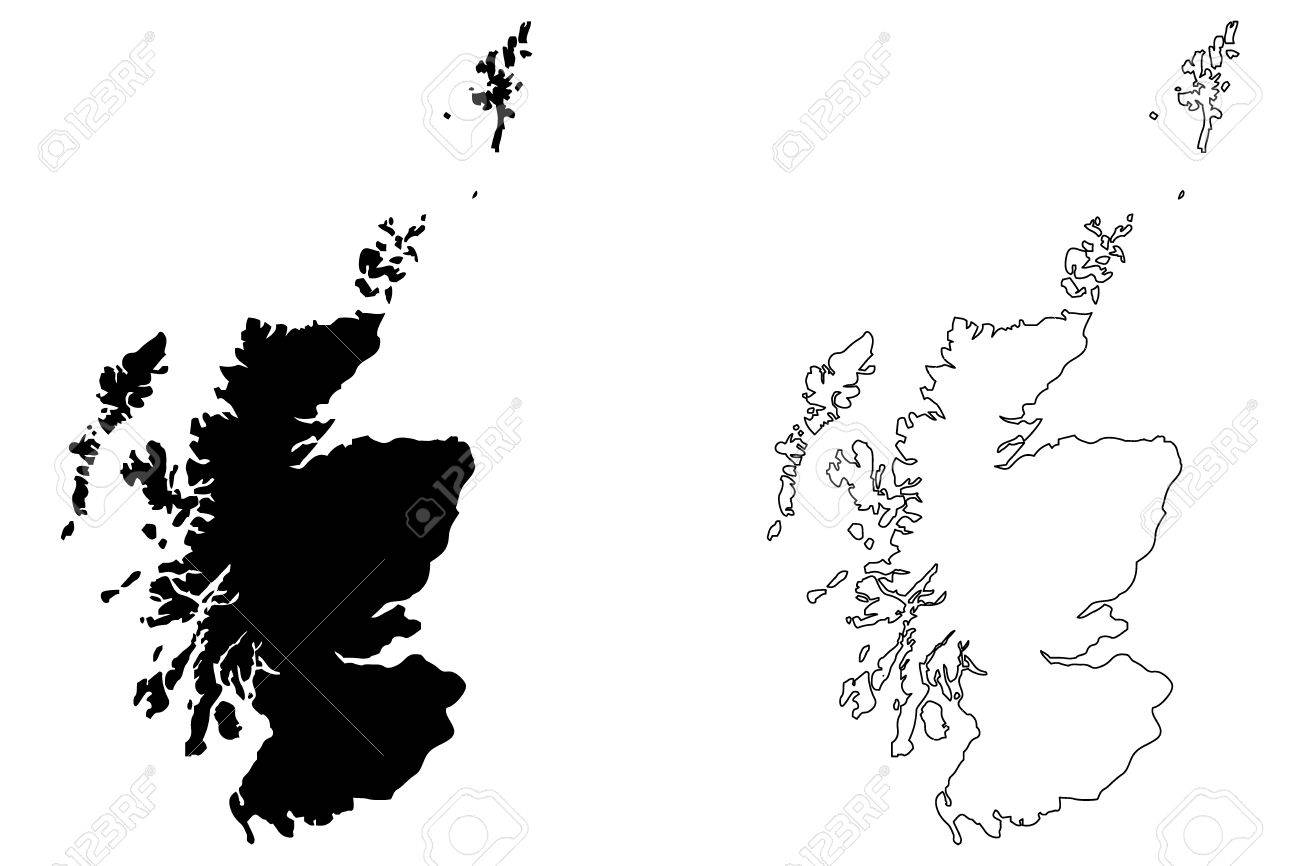 Scotland map vector illustration scribble sketch Scotland