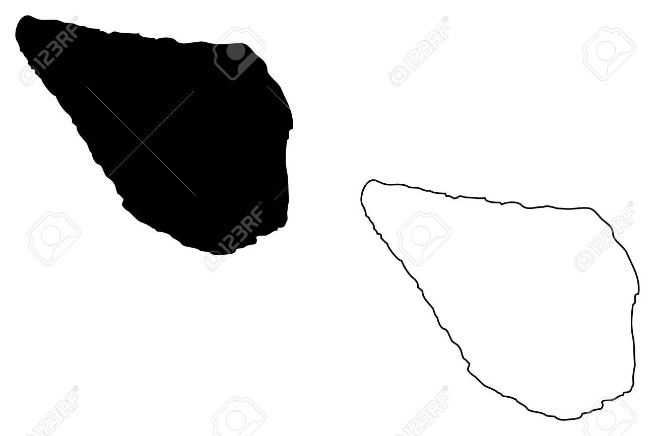 ナヴァッサ島の地図のイラスト。...