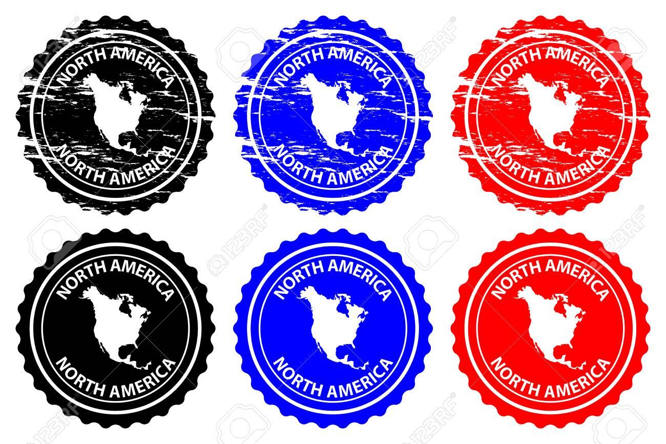 north america rubber stamp vector north america continent