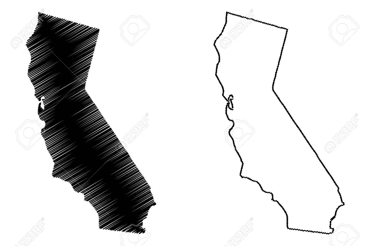California map vector illustration, scribble sketch California map - 102955443