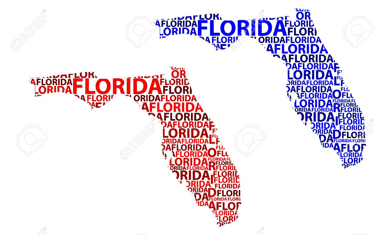 Florida Map State.Sketch Florida United States Of America The Sunshine State