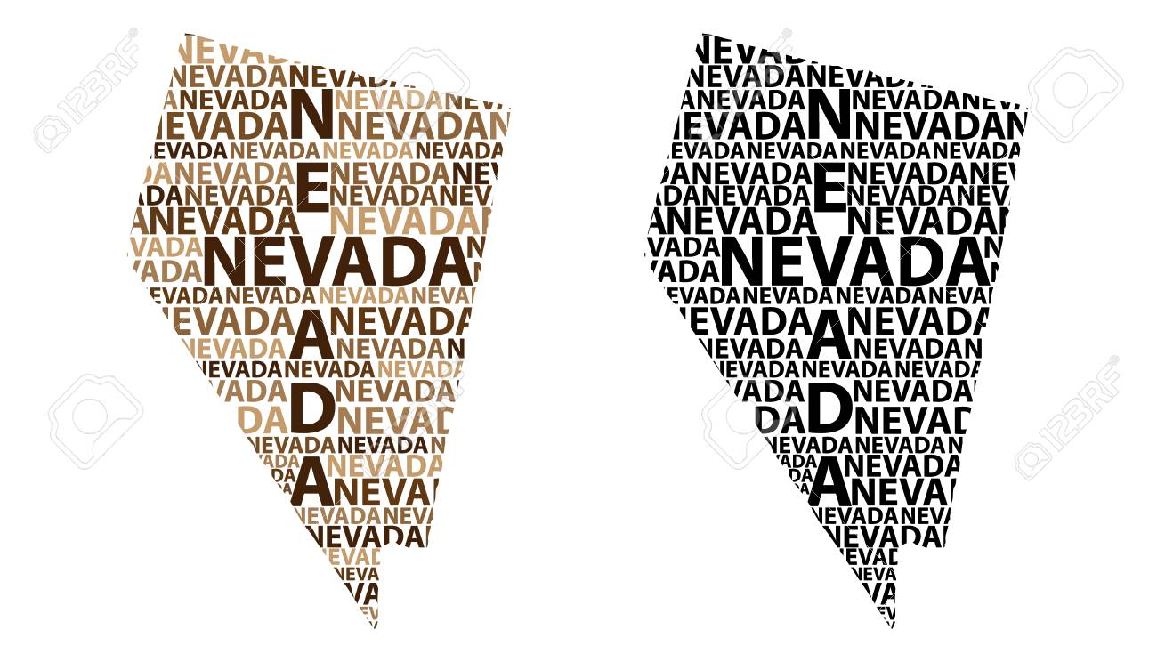 Sketch Nevada United States Of America Letter Text Map Nevada Royalty Free Cliparts Vectors And Stock Illustration Image 106494775