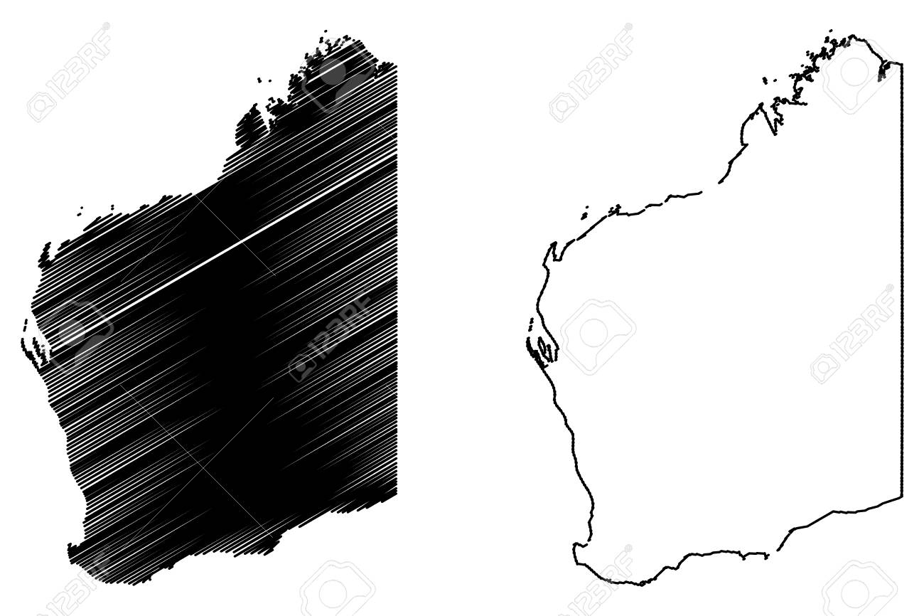 Australia Map Vector With States.Western Australia Australian States And Territories Wa Map