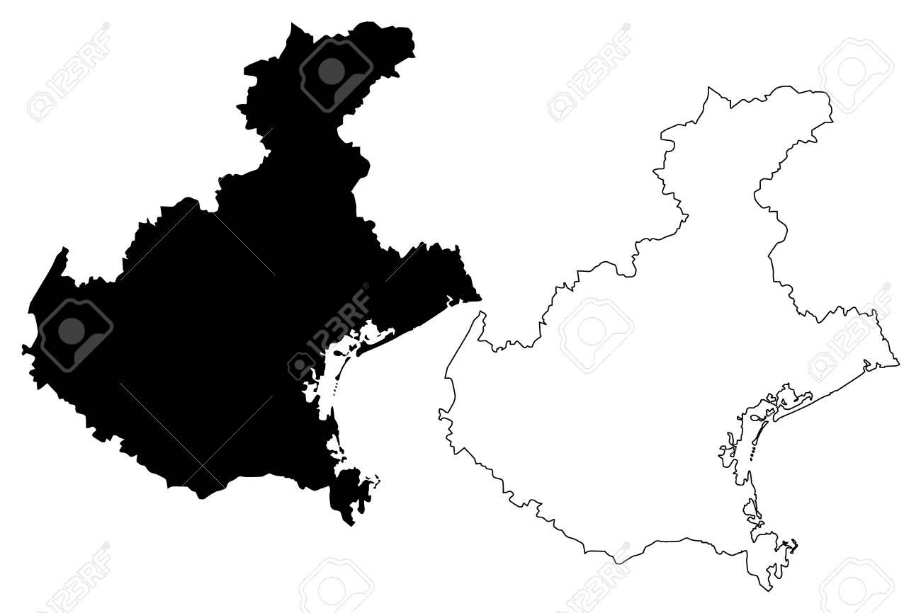 Veneto Autonomous Region Of Italy Map Vector Illustration