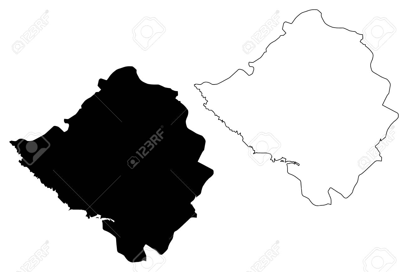 Kirsehir (Provinces Of The Republic Of Turkey) Map Vector ...