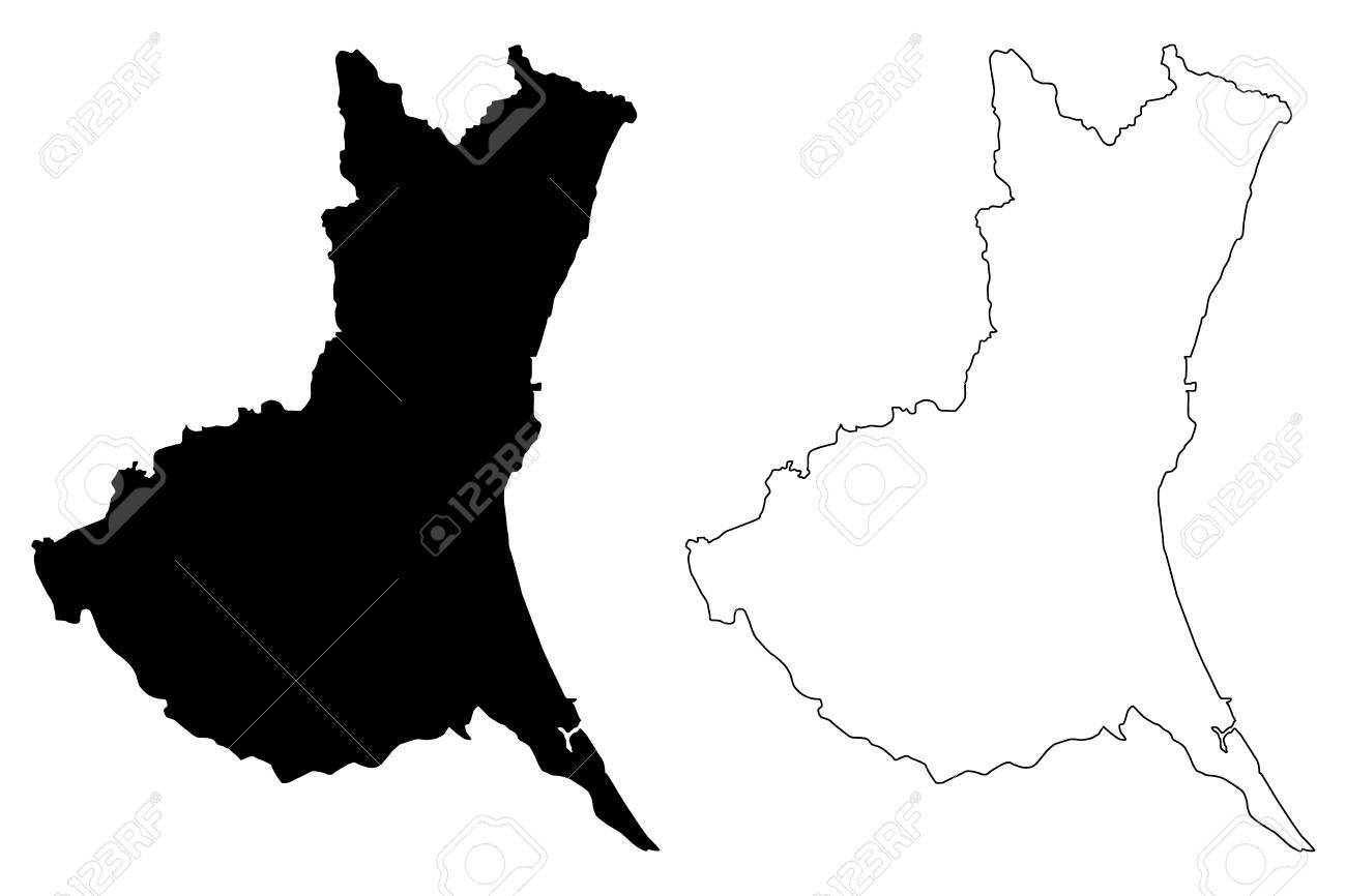 Ibaraki Prefecture (Administrative divisions of Japan, Prefectures of Japan) map vector illustration, scribble sketch Ibaraki map - 113971000