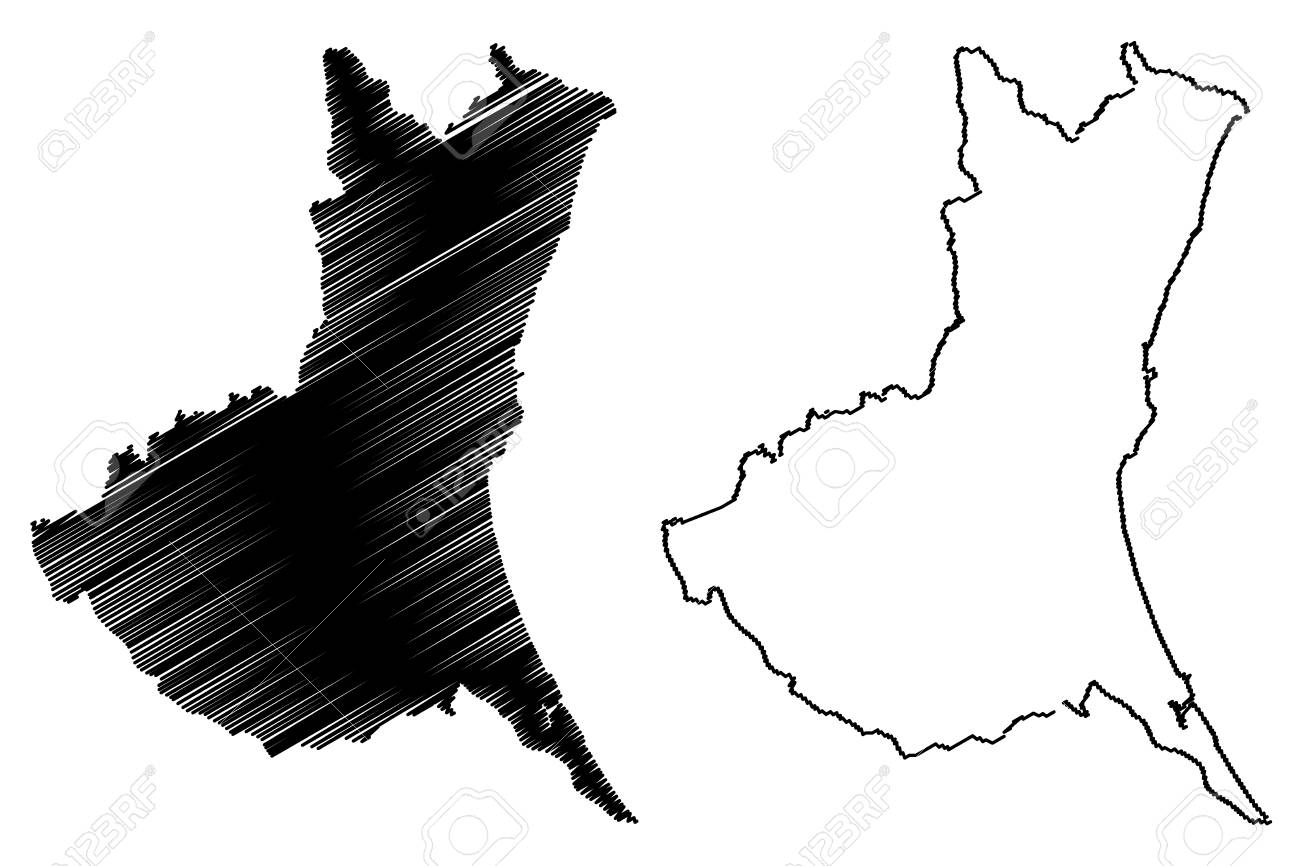 Ibaraki Prefecture (Administrative divisions of Japan, Prefectures of Japan) map vector illustration, scribble sketch Ibaraki map - 114492317
