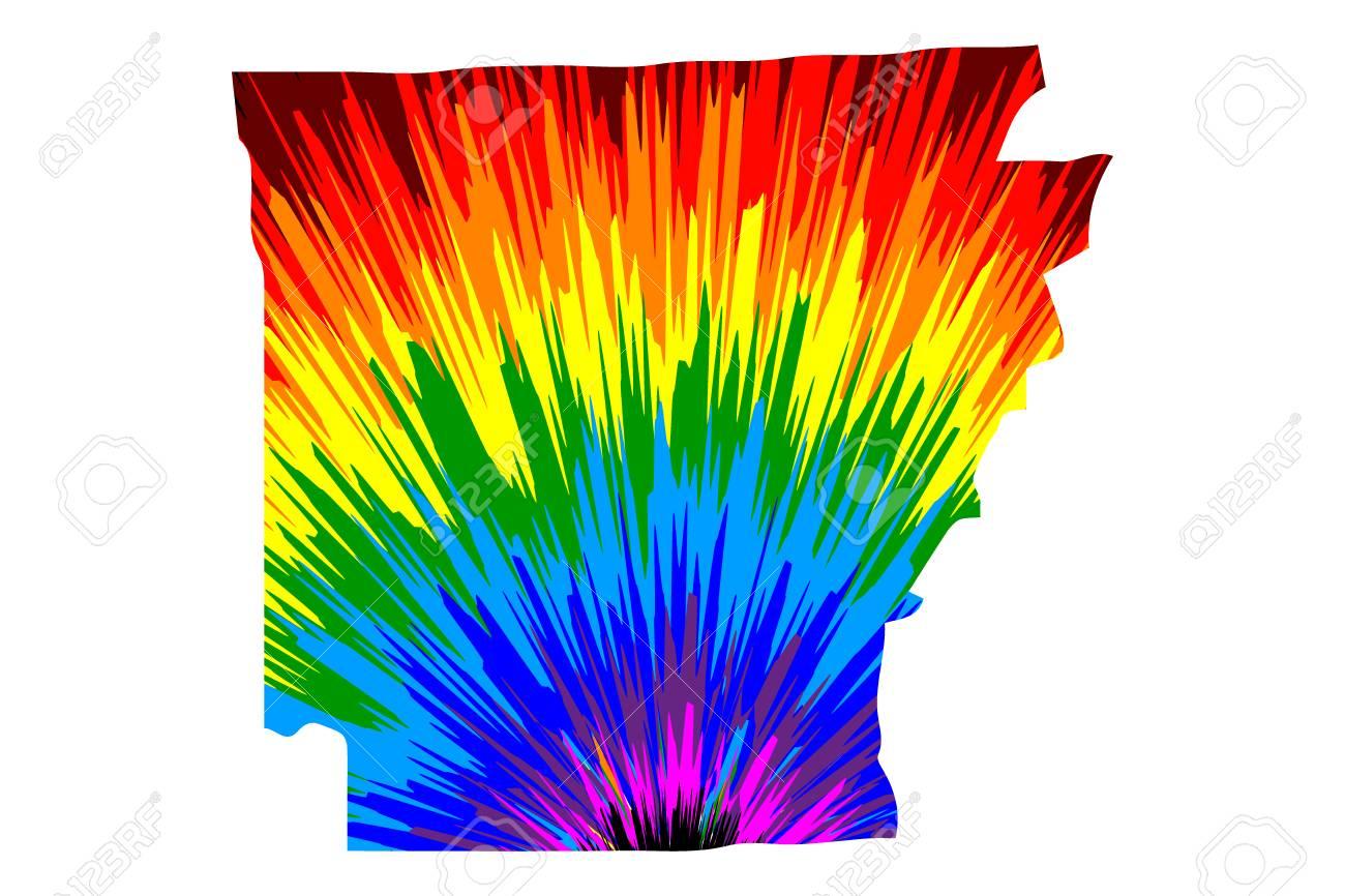 Arkansas (United States of America, USA, U.S., US) - map is..
