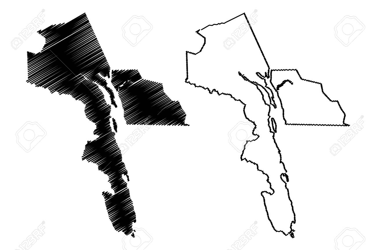 Haines Borough, Alaska (Boroughs and census areas in Alaska, United States of America,USA, U.S., US) map vector illustration, scribble sketch Haines map - 133145369
