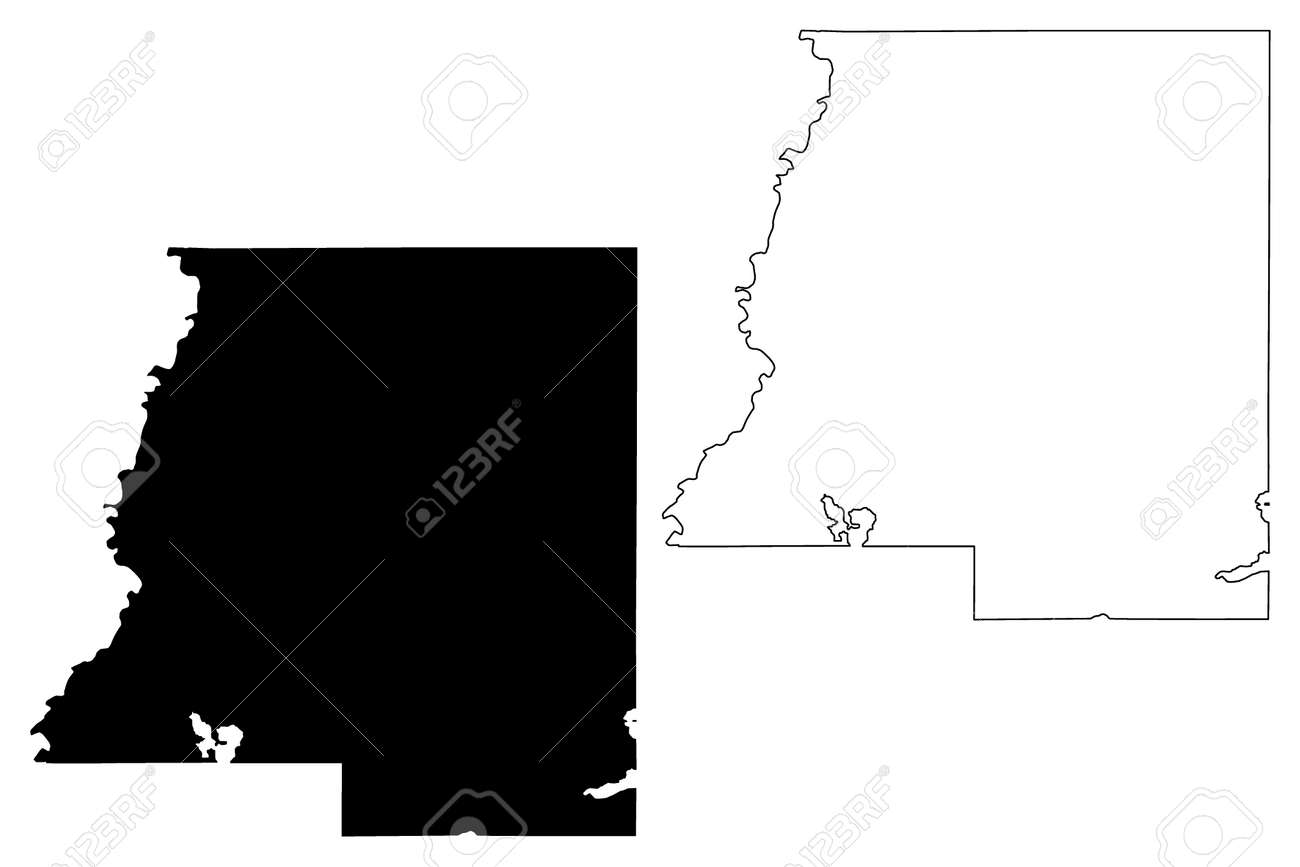 Le Sueur County, Minnesota (US county, United States of America, USA, US, US) map vector illustration, scribble sketch Le Sueur map - 155854133