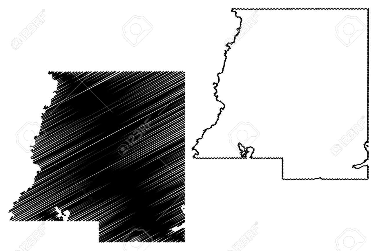 Le Sueur County, Minnesota (US county, United States of America, USA, US, US) map vector illustration, scribble sketch Le Sueur map - 159327082