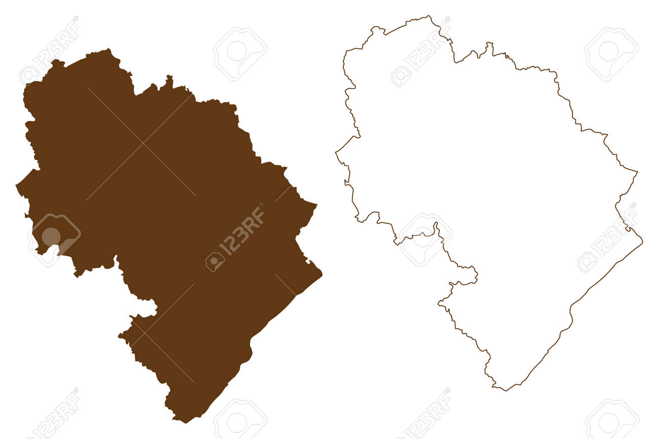 Bernkastel-Wittlich district (Federal Republic of Germany, State of Rhineland-Palatinate) map vector illustration, scribble sketch Bernkastel Wittlich map - 169111517