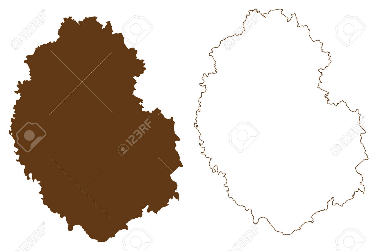 Bitburg-Prum district (Federal Republic of Germany, State of Rhineland-Palatinate) map vector illustration, scribble sketch Eifelkreis Bitburg Prum map - 169183038