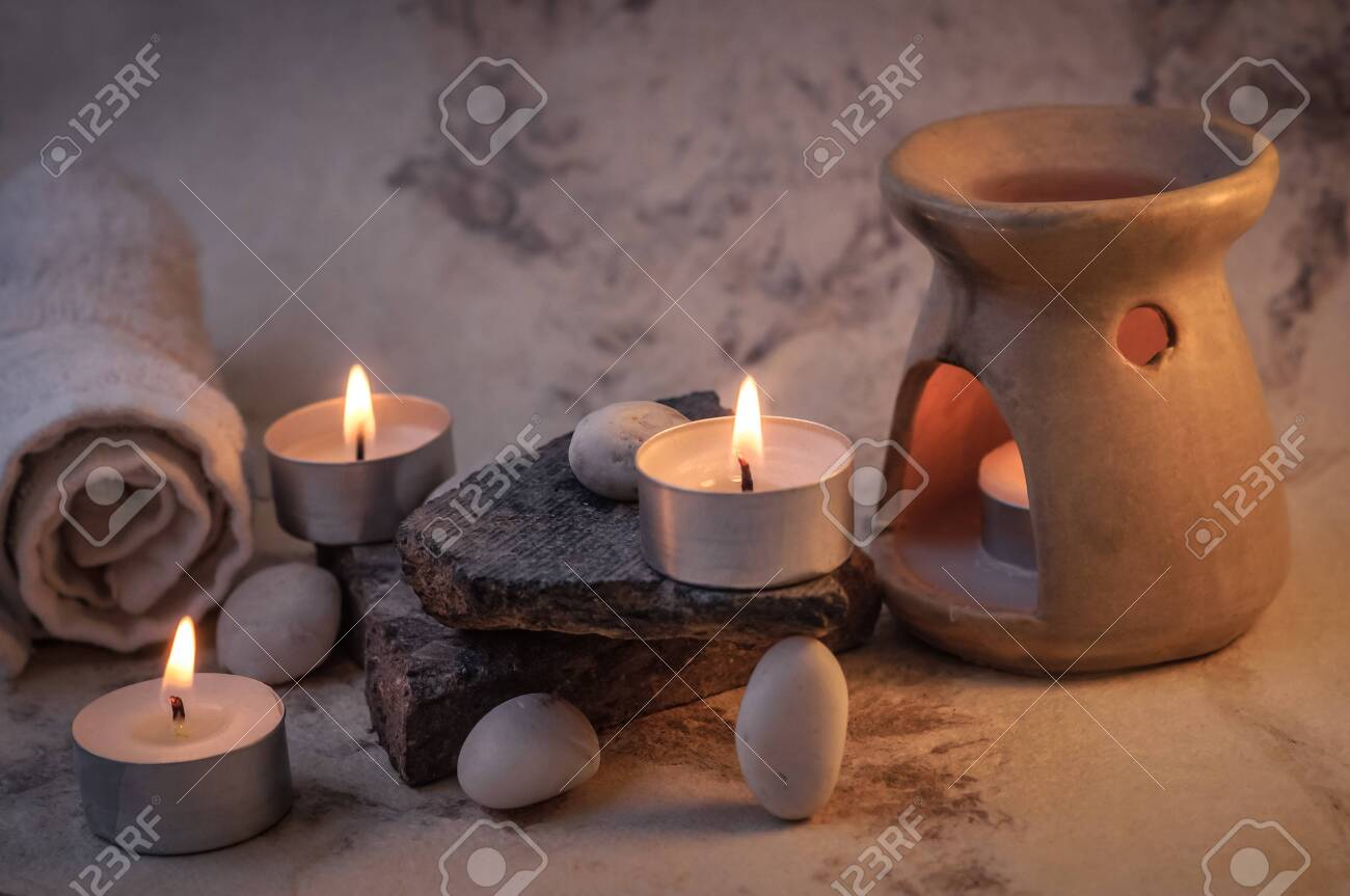 Scented Candles For A Day At The Spa Stock Photo Picture And Royalty Free Image Image 147568128