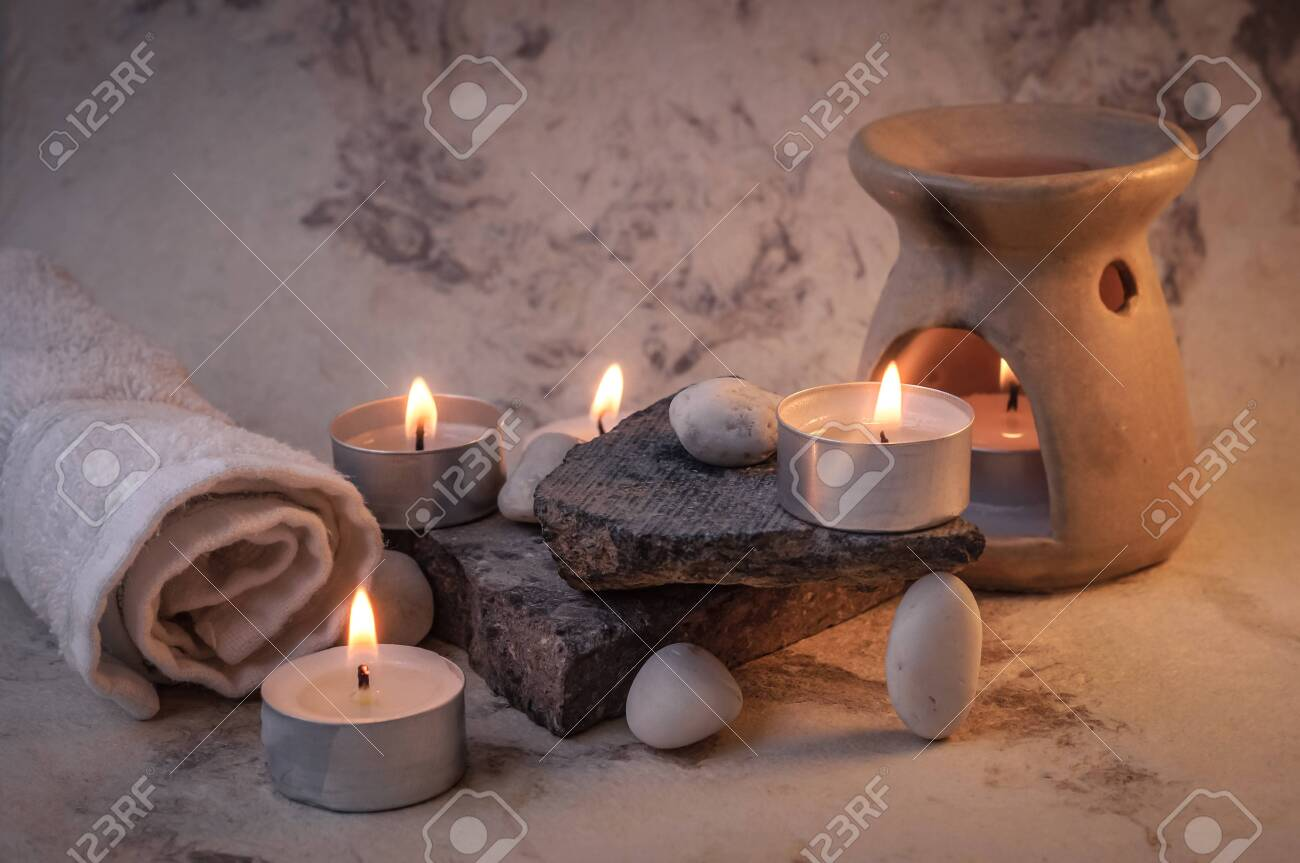 Scented Candles For A Day At The Spa Stock Photo Picture And Royalty Free Image Image 147567900