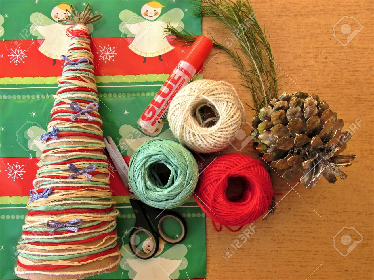 Do It Yourself Christmas Decorations.Diy Homemade Christmas Tree Materials For Christmas Crafts Project