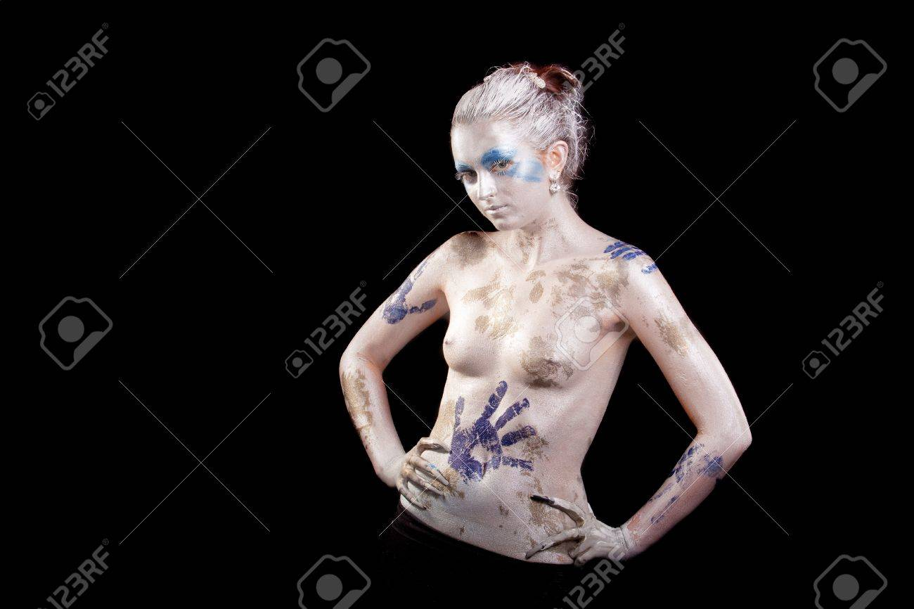 Sensual Young Caucasian Girl With Body Art Painting Standing Stock Photo Picture And Royalty Free Image Image 12155423