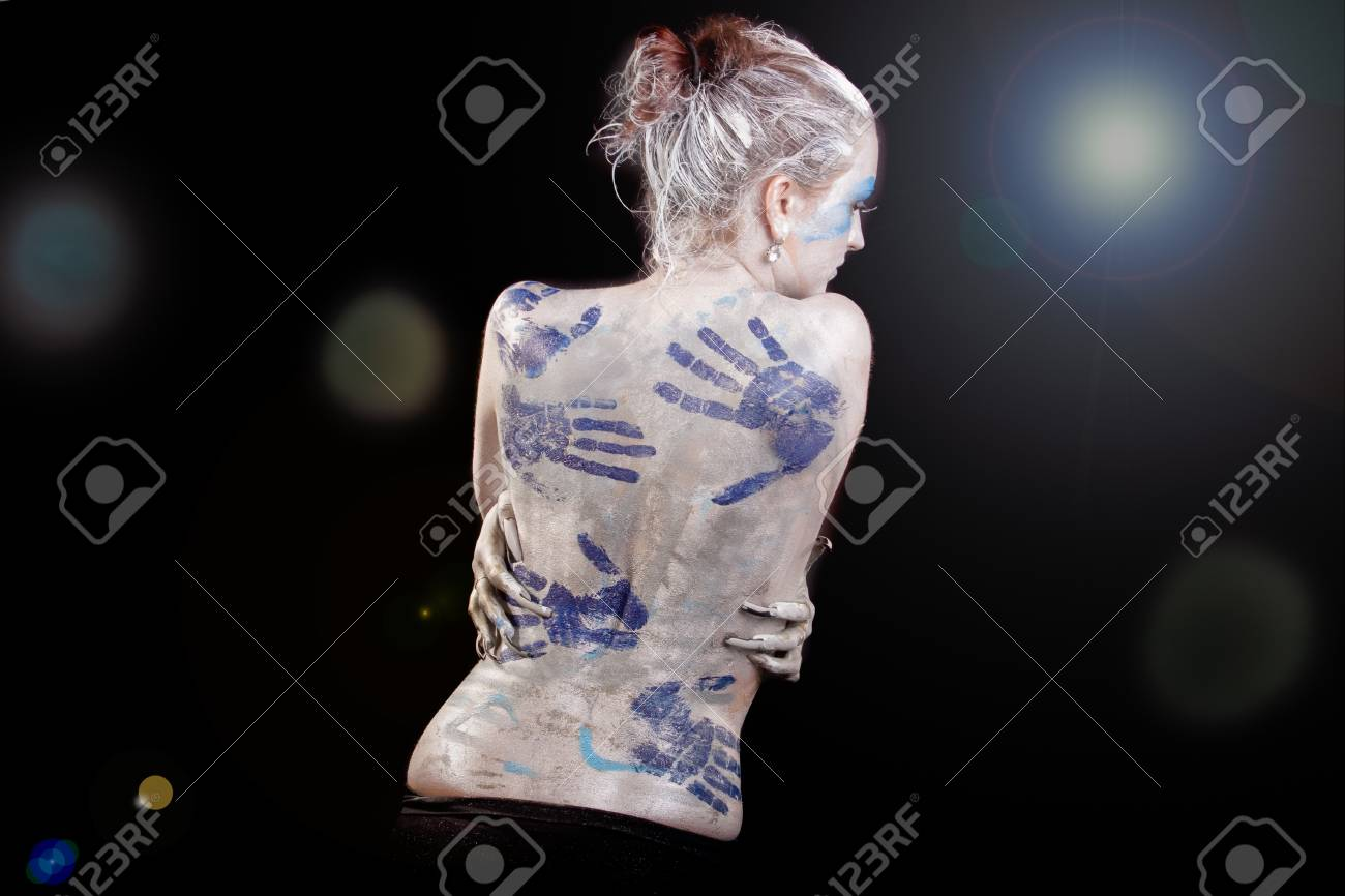 Sensual Young Caucasian Girl With Body Art Painting Standing Stock Photo Picture And Royalty Free Image Image 12155404