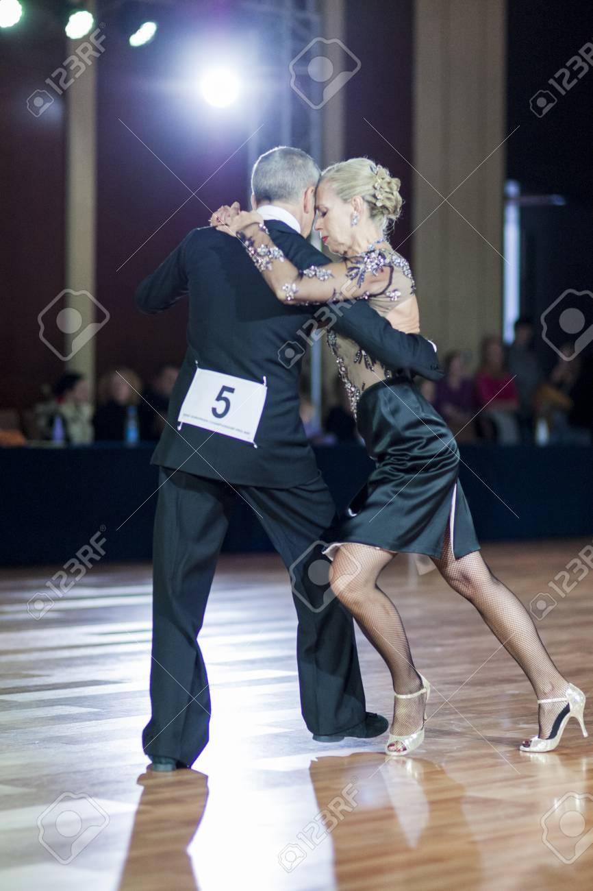 Minsk, Belarus – September 27, 2015: Professional Italian Couple ...