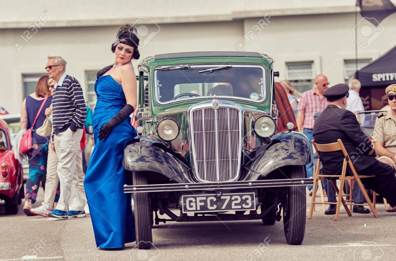 London, England, 02/05/217, Ein Gatsby-Mädchen In Den 1920er Jahren ...