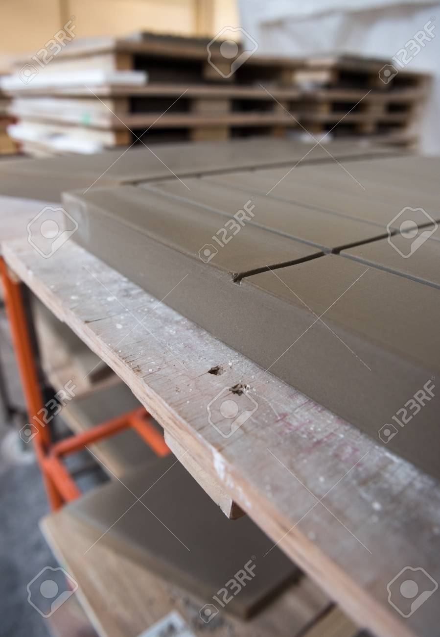 Beautiful Ceramic Tile Clay Moulds Full Of Drying Clay Creating Stock Photo Picture And Royalty Free Image Image 114356351