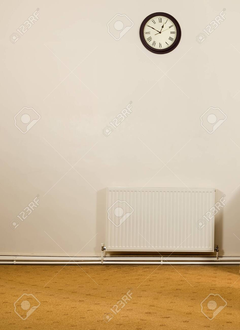 An Empty Retro Vintage Room With A Blank Cream White Wall With Stock Photo Picture And Royalty Free Image Image 120596780