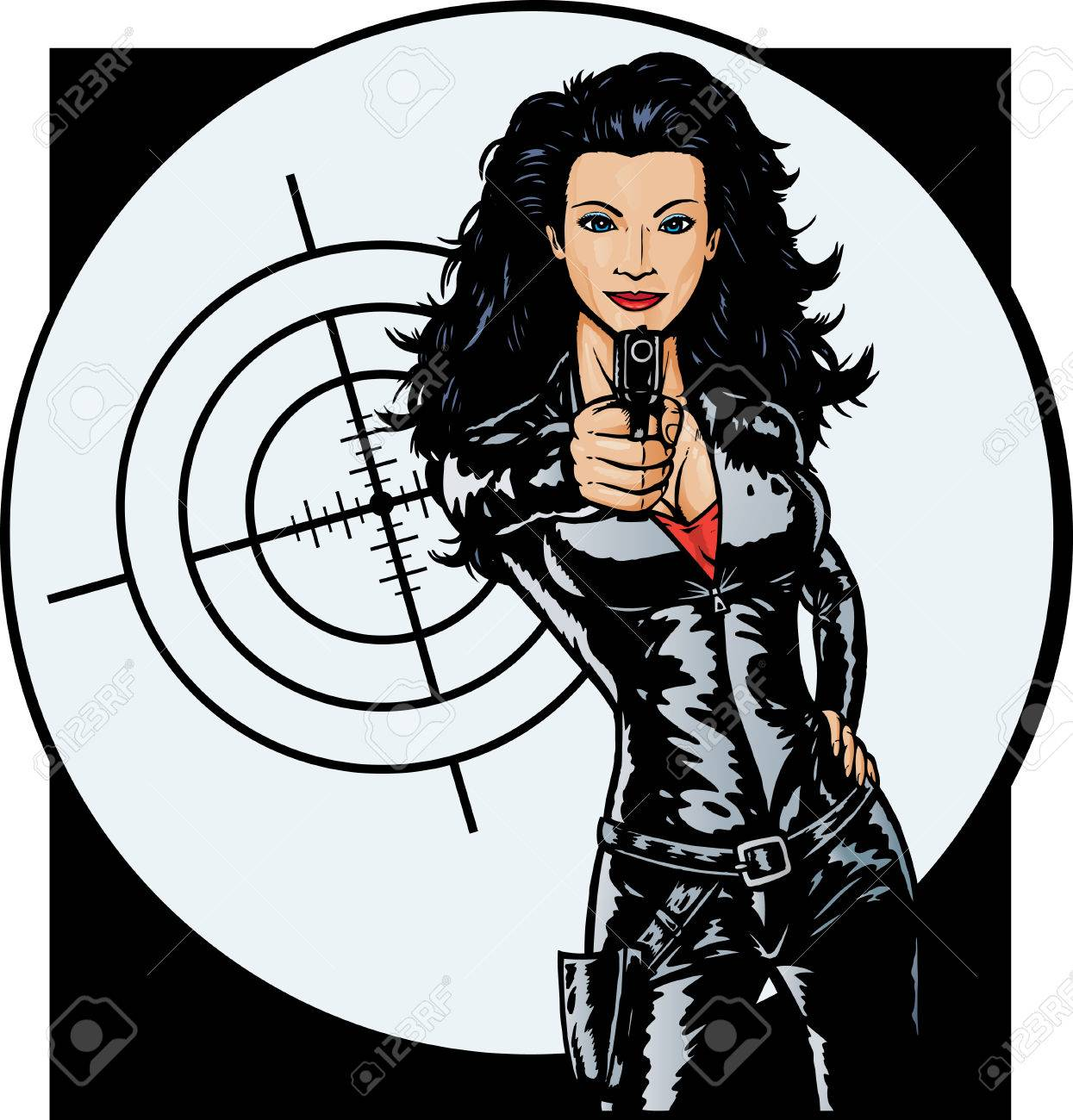 Sexy Secret Agent girl Stock Vector - 6469391