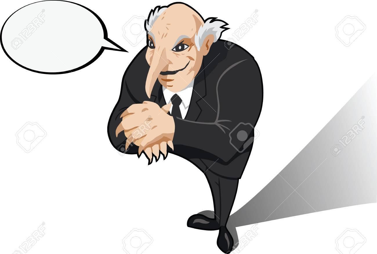 Evil genius or business man plotting. Stock Vector - 6944678